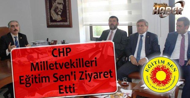 CHP Milletvekilleri Eğitim Sen'i Ziyaret Etti