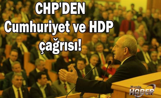 CHP PM bildirisi yayınlandı! Cumhuriyet ve HDP çağrısı!