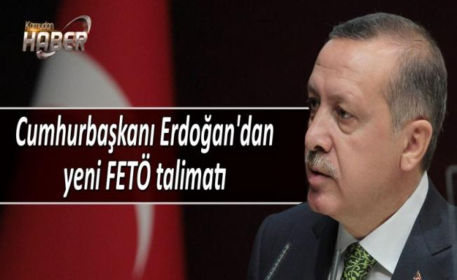 Cumhurbaşkanı Erdoğan'dan DDK'ya FETÖ talimatı