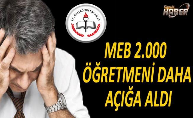 MEB 2.000 ÖĞRETMENİ DAHA AÇIĞA ALDI