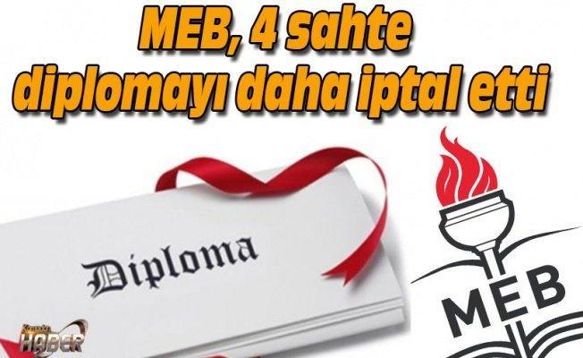 MEB, 4 sahte diplomayı daha iptal etti