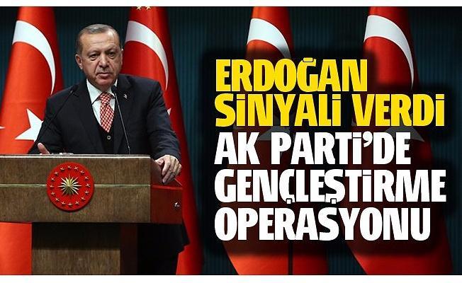 Erdoğan'dan AK Parti'de gençleştirme operasyonu