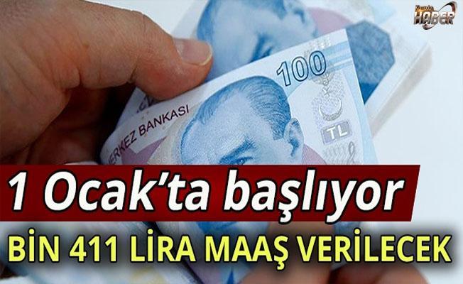 Bağ-Kur'luya bin 411 TL maaş verilecek