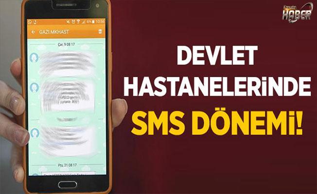 Devlet hastanelerinde hastalara SMS'li destek!