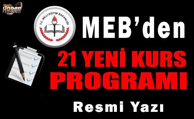 MEB'DEN 21 YENİ KURS PROGRAMI!