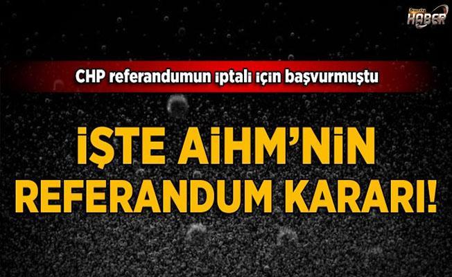AİHM'nin referandum kararı!