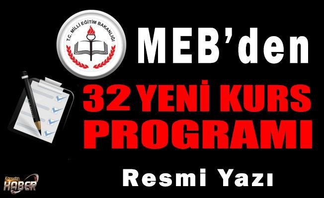 MEB'DEN 32 ADET KURS PROGRAMI