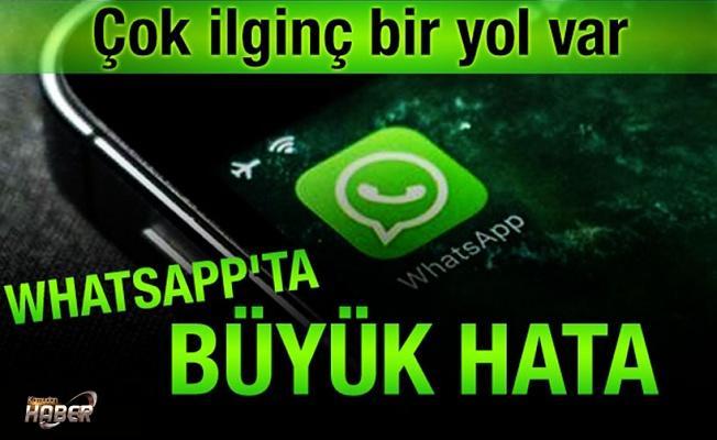 WhatsApp'taki hata ortaya çıktı
