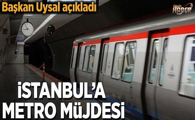 Başkan'dan İstanbul'a metro müjdesi.