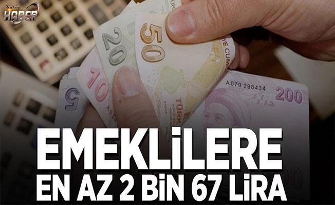 Emeklilere en az 2.067 lira maaş öngörülüyor