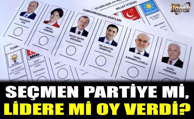 Seçmenin tercihi Parti mi, lider mi oldu?