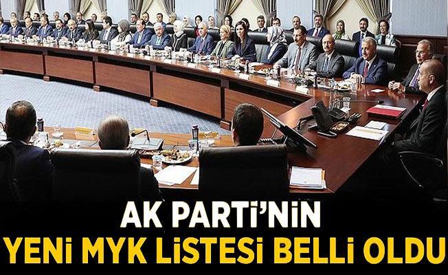 AK Parti, MYK listesi belli oldu