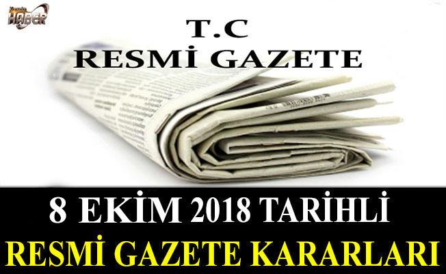 12 EKİM 2018 TARİHLİ RESMİ GAZETE KARARLARI!