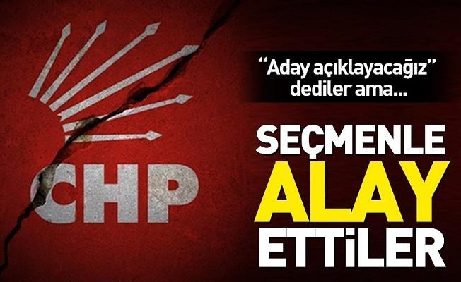 CHP'den dalga geçer gibi aday açıklaması .