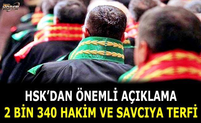2 bin 340 hakim ve savcıya terfi