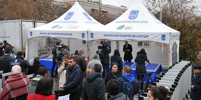 Ankara'da ilk tanzim satış çadırı kuruldu