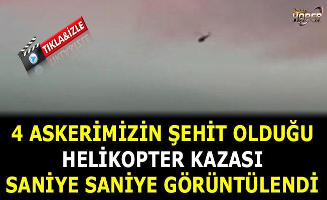 Çekmeköy'de helikopterin düşme anı kameralara yansıdı