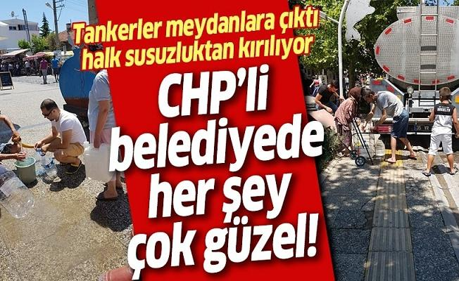 CHP'li İzmir Foça'da susuzluk rezilliği! Halk CHP belediyeciliğine tepkili .