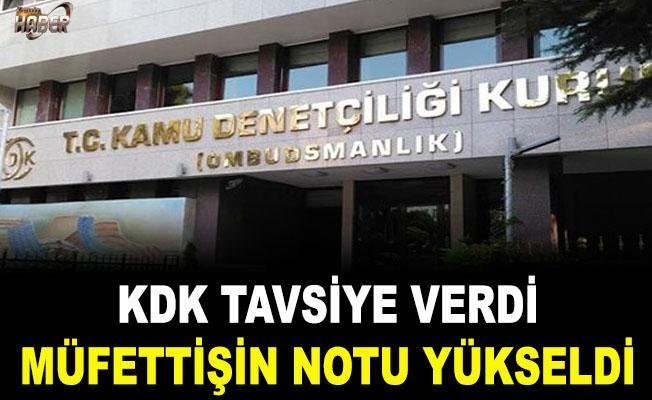 KDK'ya başvuran müfettişin performans notu yükseldi