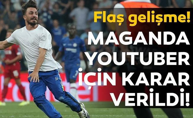 Süper Kupa Finali'nde sahaya atlayan youtuber serbest