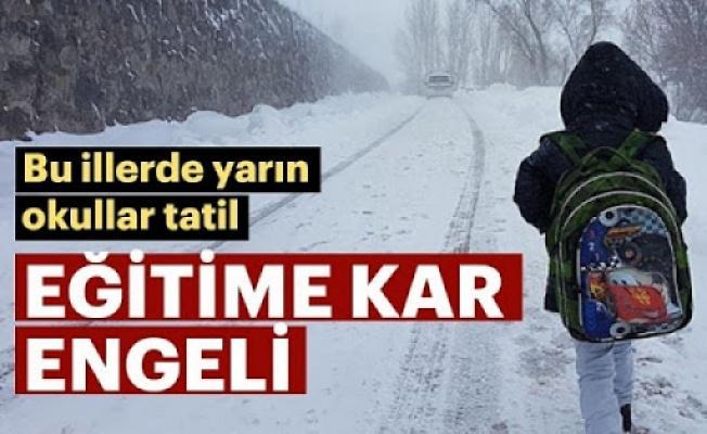 14 Şubat Cuma Okullara Kar Tatili Olan İller - 17 İL